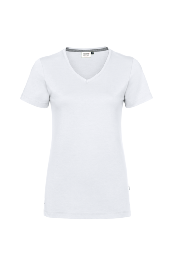 Damen V-Shirt Cotton Tec