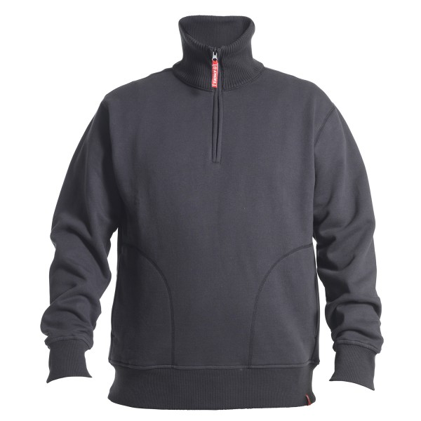 Sweatshirt Mit Hohem Kragen