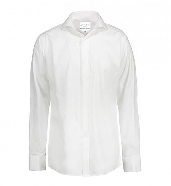 Poplin | Tuxedo - Langärmlig Slim Fit