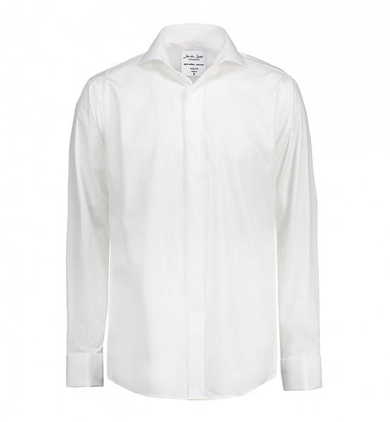 Poplin | Tuxedo - Langärmlig Modern Fit